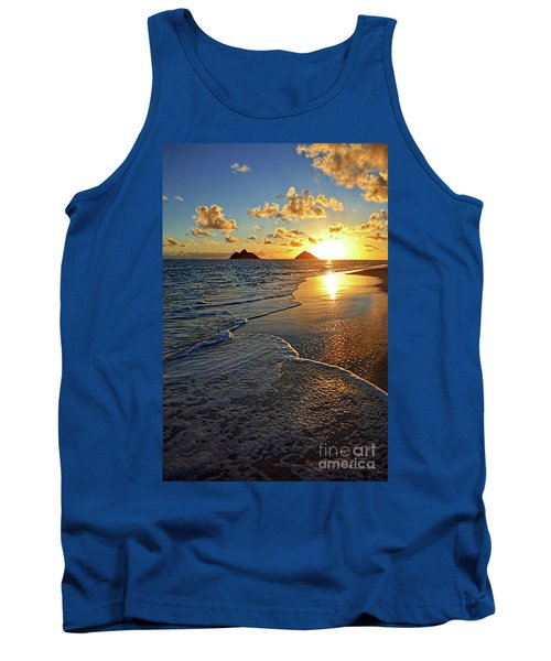 Lanikai Beach Sunrise Foamy Waves Tank Top