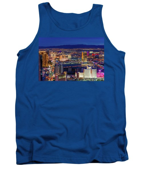 Tank Top featuring the photograph Las Vegas Strip From The Stratosphere Wide by Aloha Art