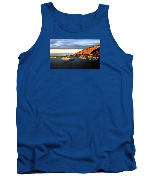 Tank Top featuring the photograph Last Rays At The Bay by Nareeta Martin