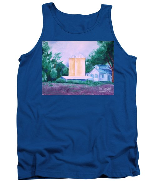 Tank Top featuring the painting Lavender Farm Albuquerque by Eric  Schiabor