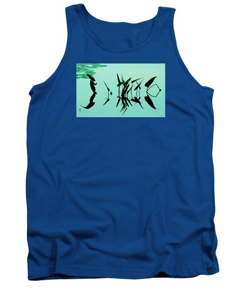 Leaves And Dragonflies 2 Tank Top