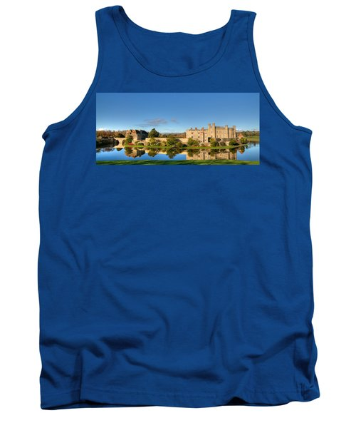 Leeds Castle And Moat Reflections Tank Top