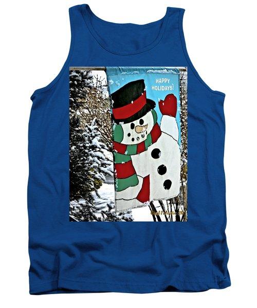 Let It Snow - Happy Holidays Tank Top by Carol F Austin