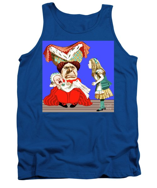 Lewis Carrolls Alice, Red Queen And Crying Infant Tank Top