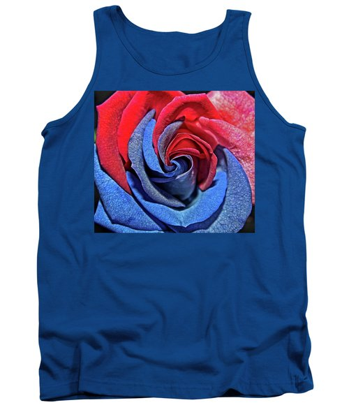 Tank Top featuring the photograph Liberty Rose by Judy Vincent