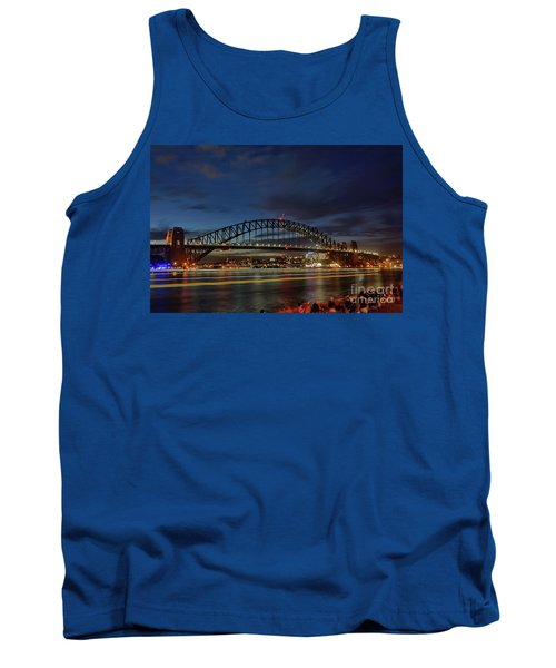Tank Top featuring the photograph Light Trails On The Harbor By Kaye Menner by Kaye Menner