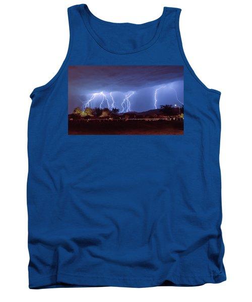 Lightning Over Laveen Tank Top by Kimo Fernandez