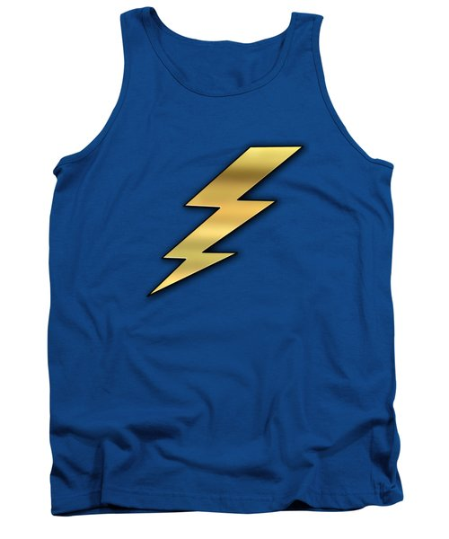 Tank Top featuring the digital art Lightning Transparent by Chuck Staley