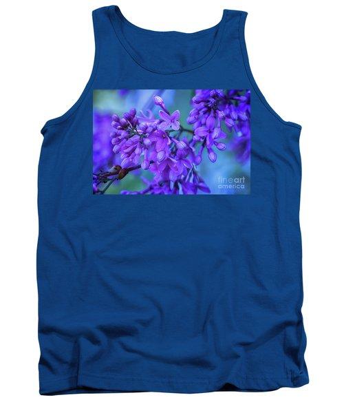 Lilac Blues Tank Top by Elizabeth Dow