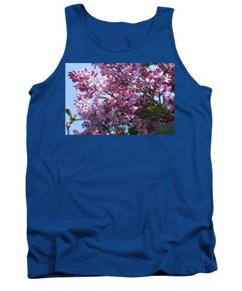 Lilacs In Bloom 2 Tank Top by Barbara Yearty