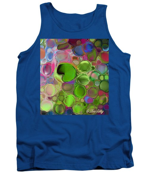 Tank Top featuring the digital art Lilly Pond by Loxi Sibley