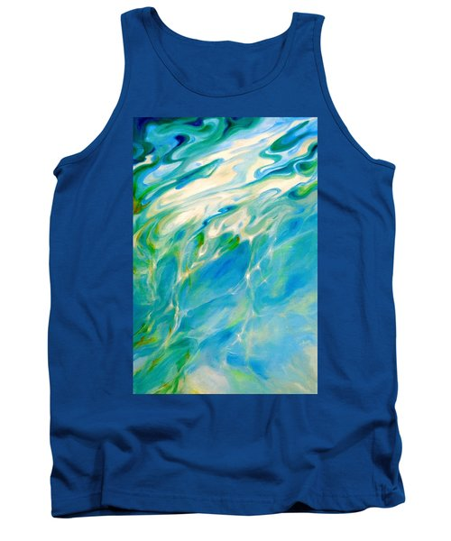 Tank Top featuring the painting Liquid Assets by Dina Dargo