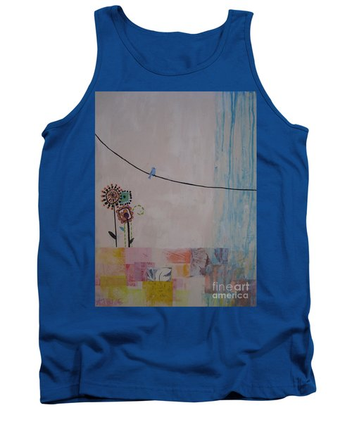 Tank Top featuring the painting Little Birdie by Ashley Price