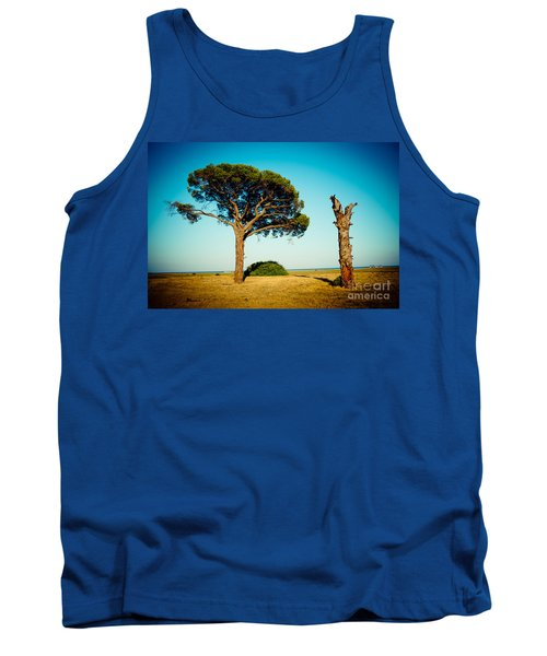Live And Dead Tree At Seacoast Tank Top