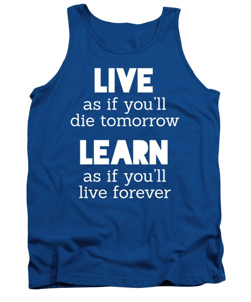 Live And Learn Tank Top