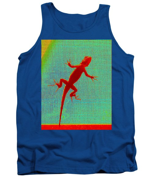 Lizard On The Screen Tank Top
