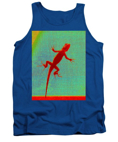 Lizard On The Screen Tank Top