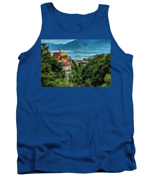 Tank Top featuring the photograph Locarno Overview by Alan Toepfer