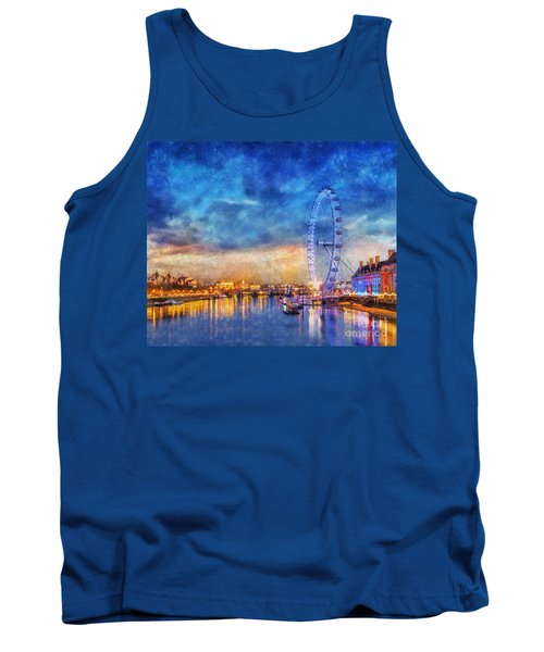 Tank Top featuring the photograph London Eye by Ian Mitchell