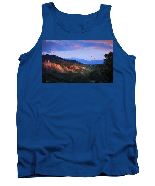 Longs Peak And Glowing Rocks Tank Top