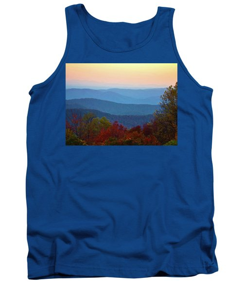 Tank Top featuring the photograph Lost On The Blueridge by B Wayne Mullins