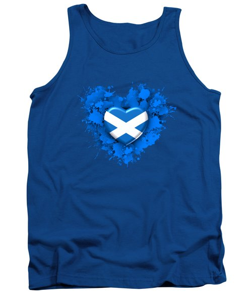 Love To Scotland. 1 Tank Top