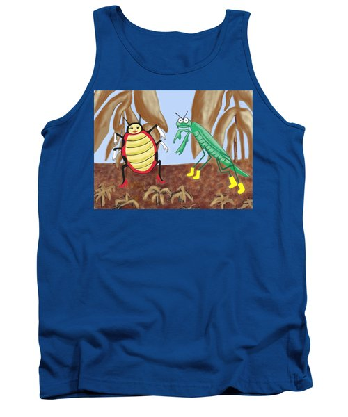 Lucy And Pablo Need A Garden Tank Top by Jan Watford