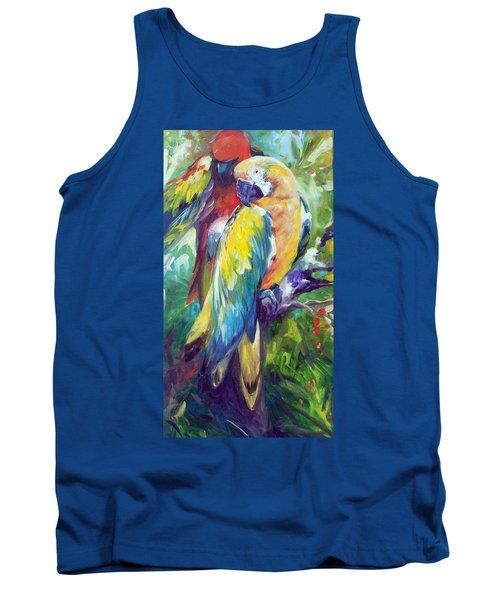 Macaw Pair Tank Top by Marcia Baldwin