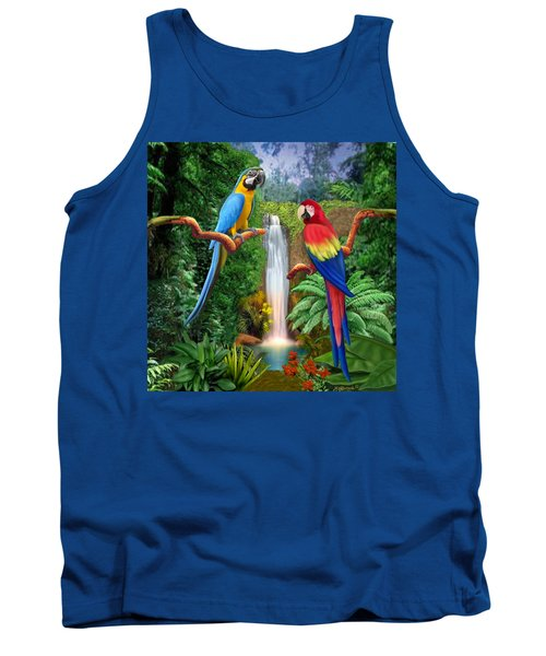 Macaw Tropical Parrots Tank Top