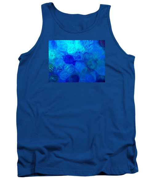 Magnified Blue Water Drops-abstract Tank Top