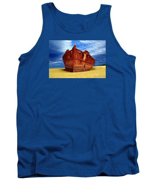 Tank Top featuring the photograph Maheno Shipwreck Fraser Island Queensland Australia by Gary Crockett