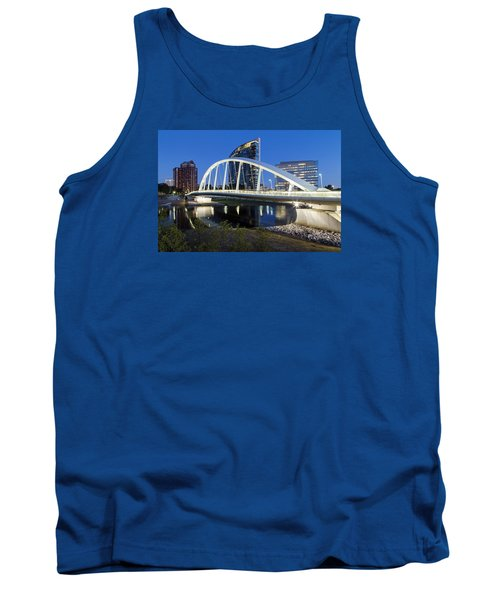 Main Street Bridge Columbus Tank Top by Alan Raasch