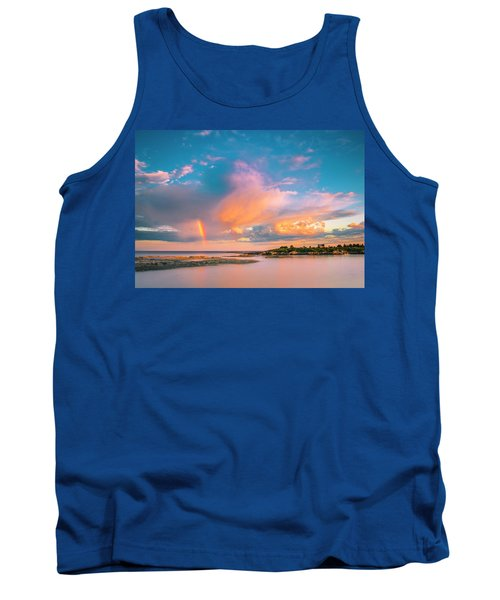 Maine Sunset - Rainbow Over Lands End Coast Tank Top