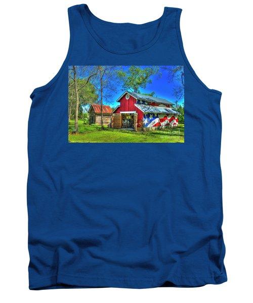 Tank Top featuring the photograph Make America Great Again Barn American Flag Art by Reid Callaway