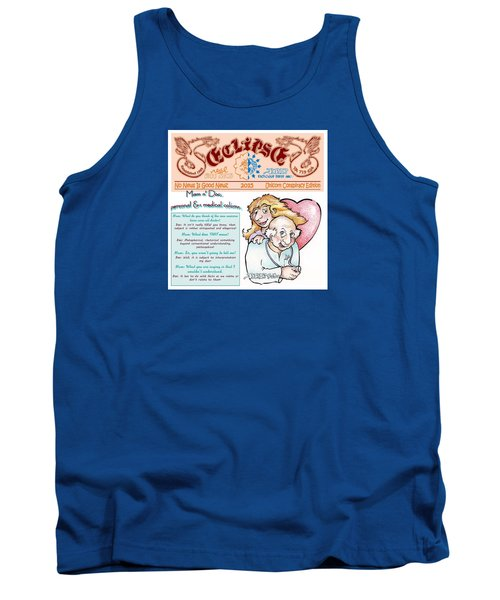 Tank Top featuring the drawing Real Fake News Personal Medical Columnists 1 by Dawn Sperry