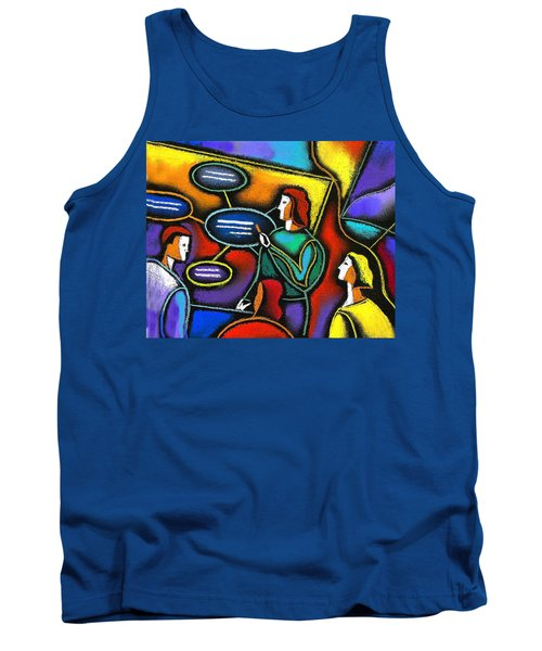 Tank Top featuring the painting Manager  by Leon Zernitsky