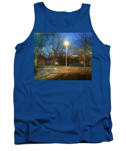Manchester Street With Light And Trees Tank Top