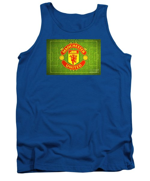 Manchester United Theater Of Dreams Large Canvas Art, Canvas Print, Large Art, Large Wall Decor Tank Top by David Millenheft