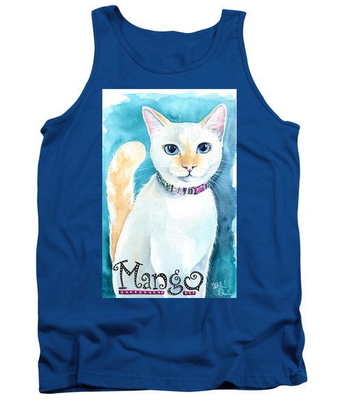 Mango - Flame Point Siamese Cat Painting Tank Top