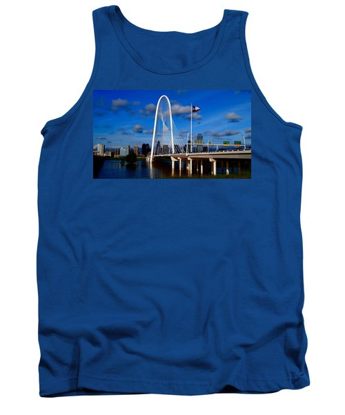 Tank Top featuring the photograph Margaret Hunt Hill Bridge Dallas Flood by Kathy Churchman