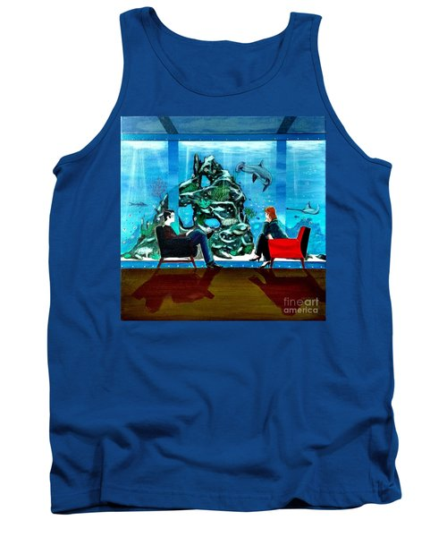 Marinelife Observing Couple Sitting In Chairs Tank Top