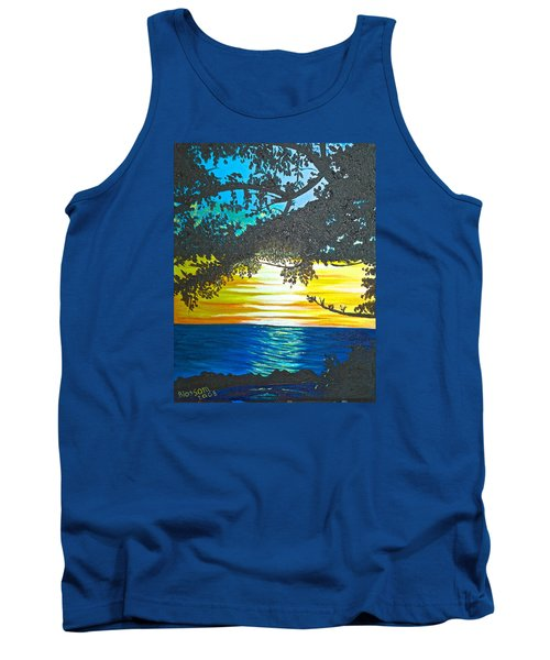 Maui Sunset Tank Top by Donna Blossom