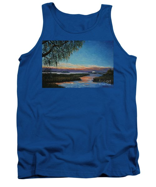 May River Sunset Tank Top by Stanton Allaben