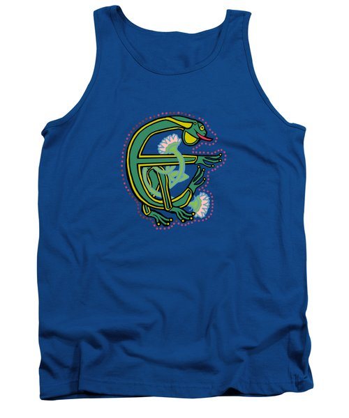 Medieval Frog Letter E Tank Top by Donna Huntriss