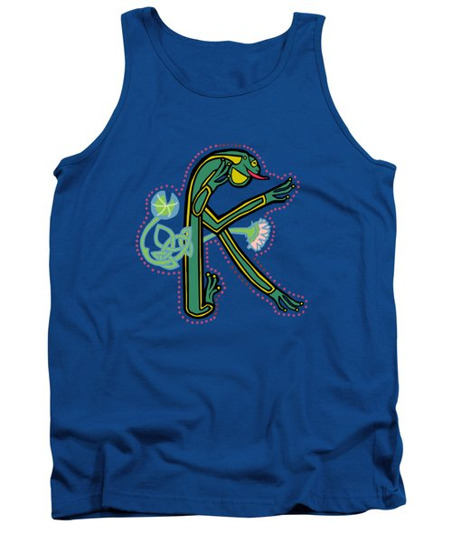 Medieval Frog Letter K Tank Top by Donna Huntriss