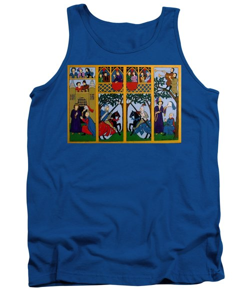 Tank Top featuring the painting Medieval Scene by Stephanie Moore