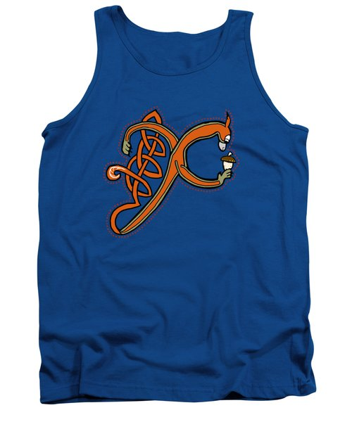 Medieval Squirrel Letter X Tank Top by Donna Huntriss