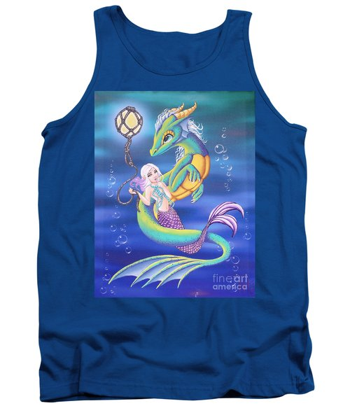 Mermaid And Sea Dragon Tank Top