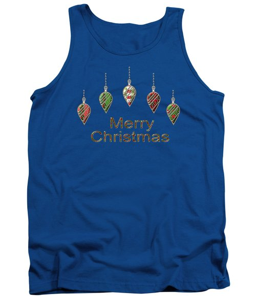 Merry Christmas Tank Top by Movie Poster Prints