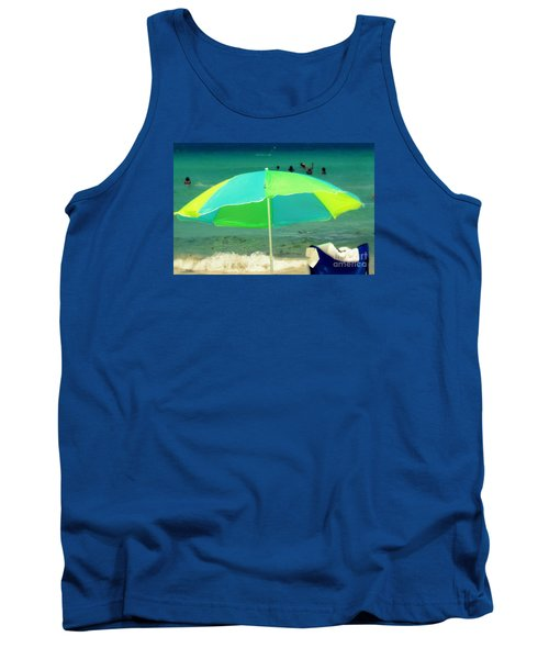 Miami Beach 3 Tank Top by France Laliberte